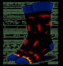 Socks Firefighter Gray Heather Mens