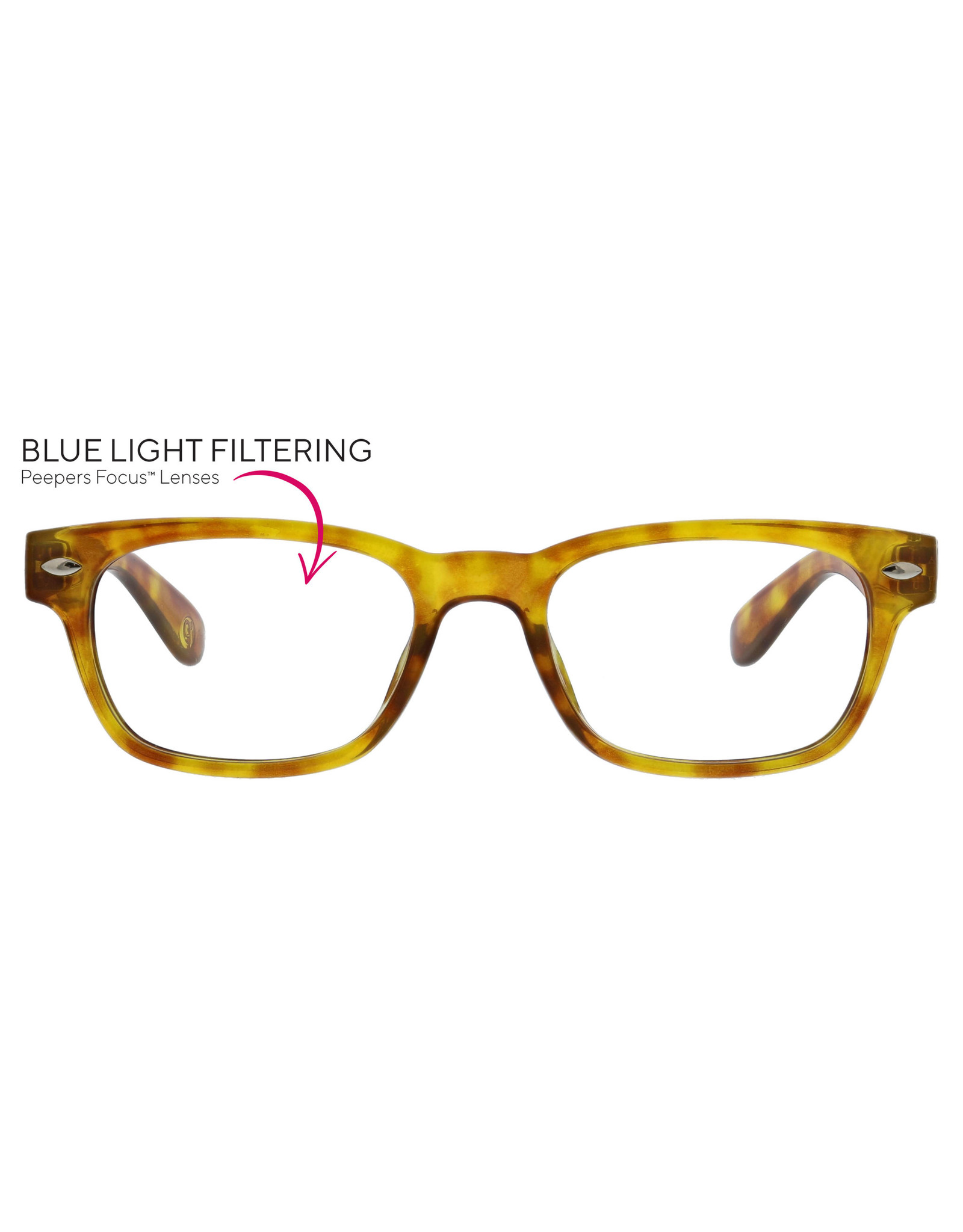 Peepers Clark Focus Honey Tortoise + 2.50