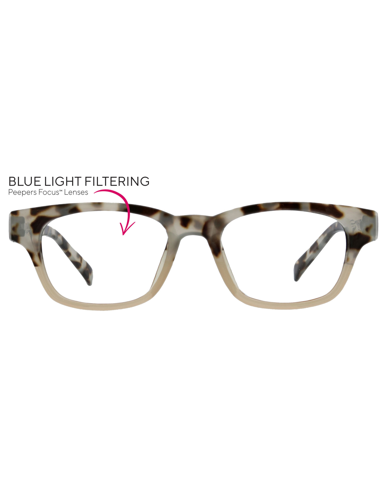 Peepers Gray Tortoise/Pink + 2.75