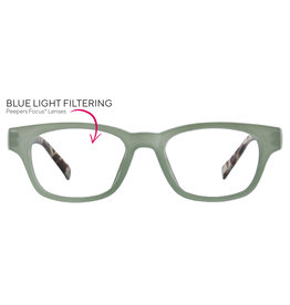 Peepers Vintage Vibes - green/gray tortoise +2.00