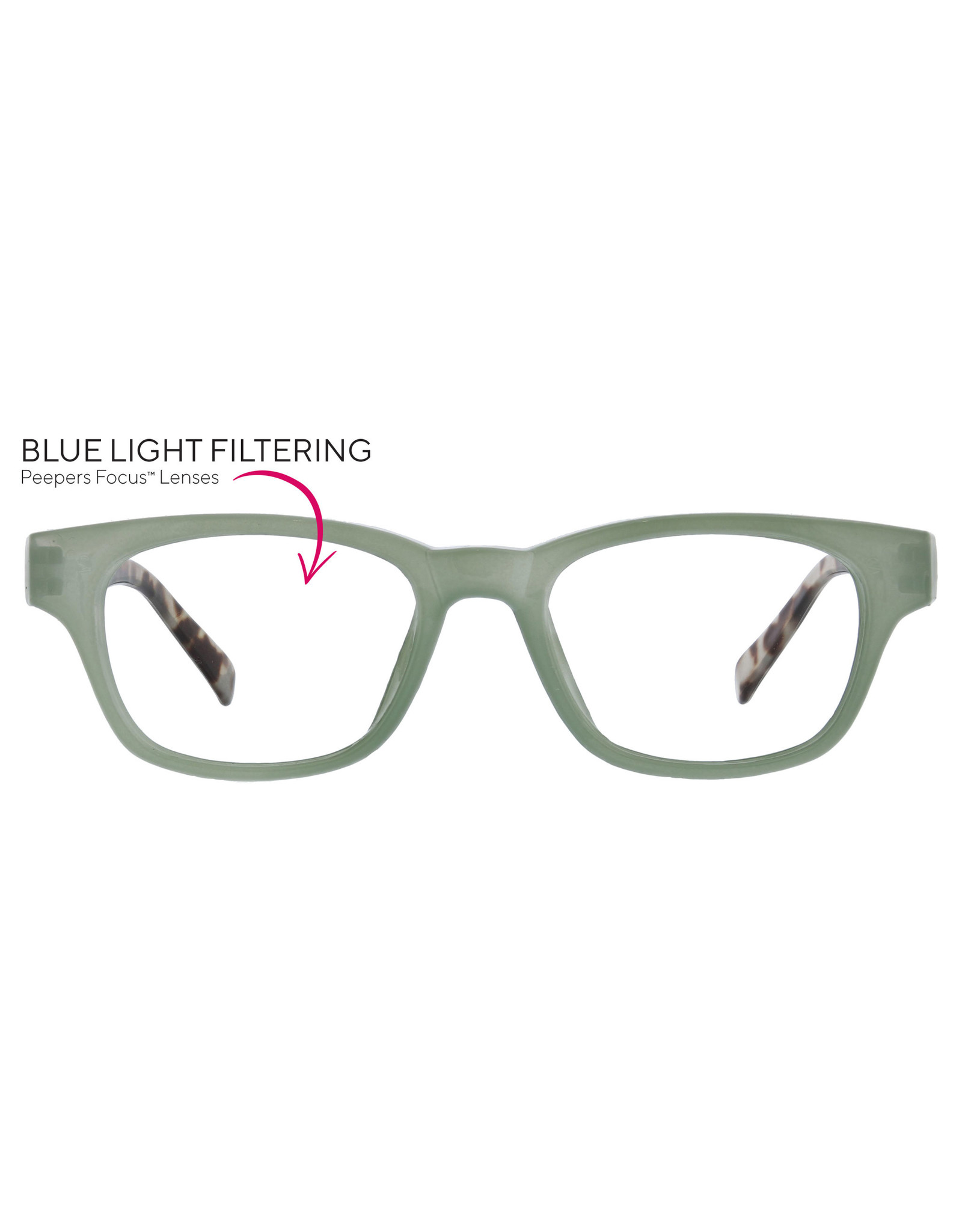 Peepers Vintage Vibes - green/gray tortoise +2.75