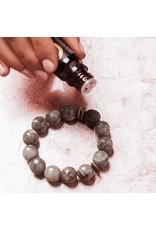 Lava & Gemstone Diffuser Bracelet- Champagne