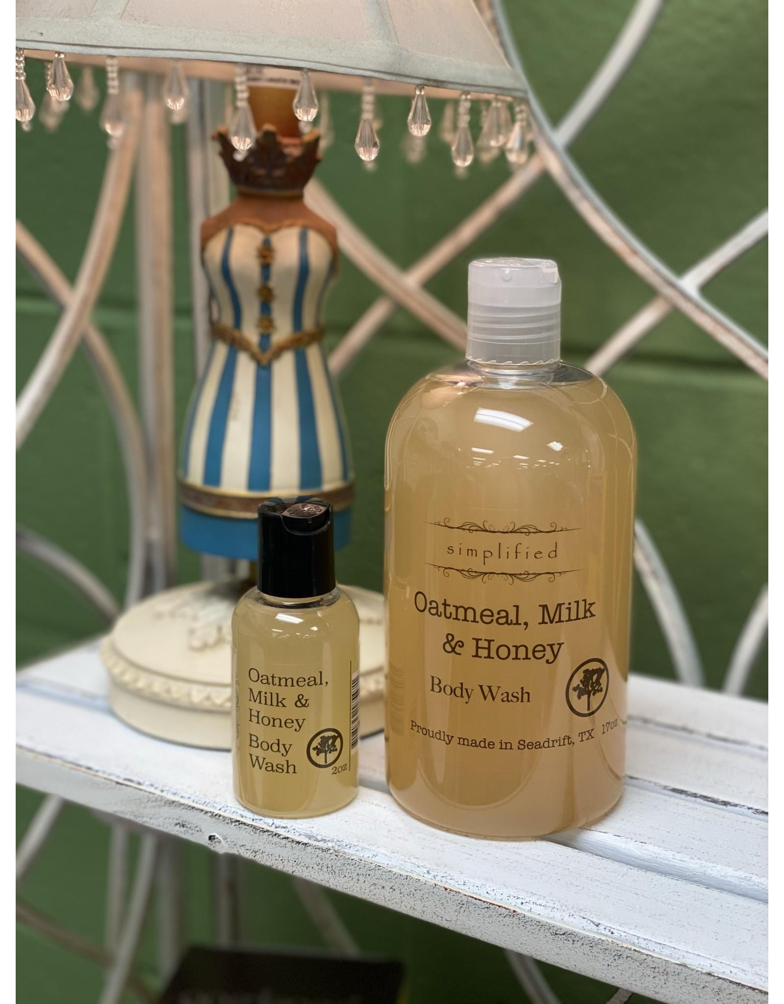 Oatmeal Milk & Honey Body Wash 2oz