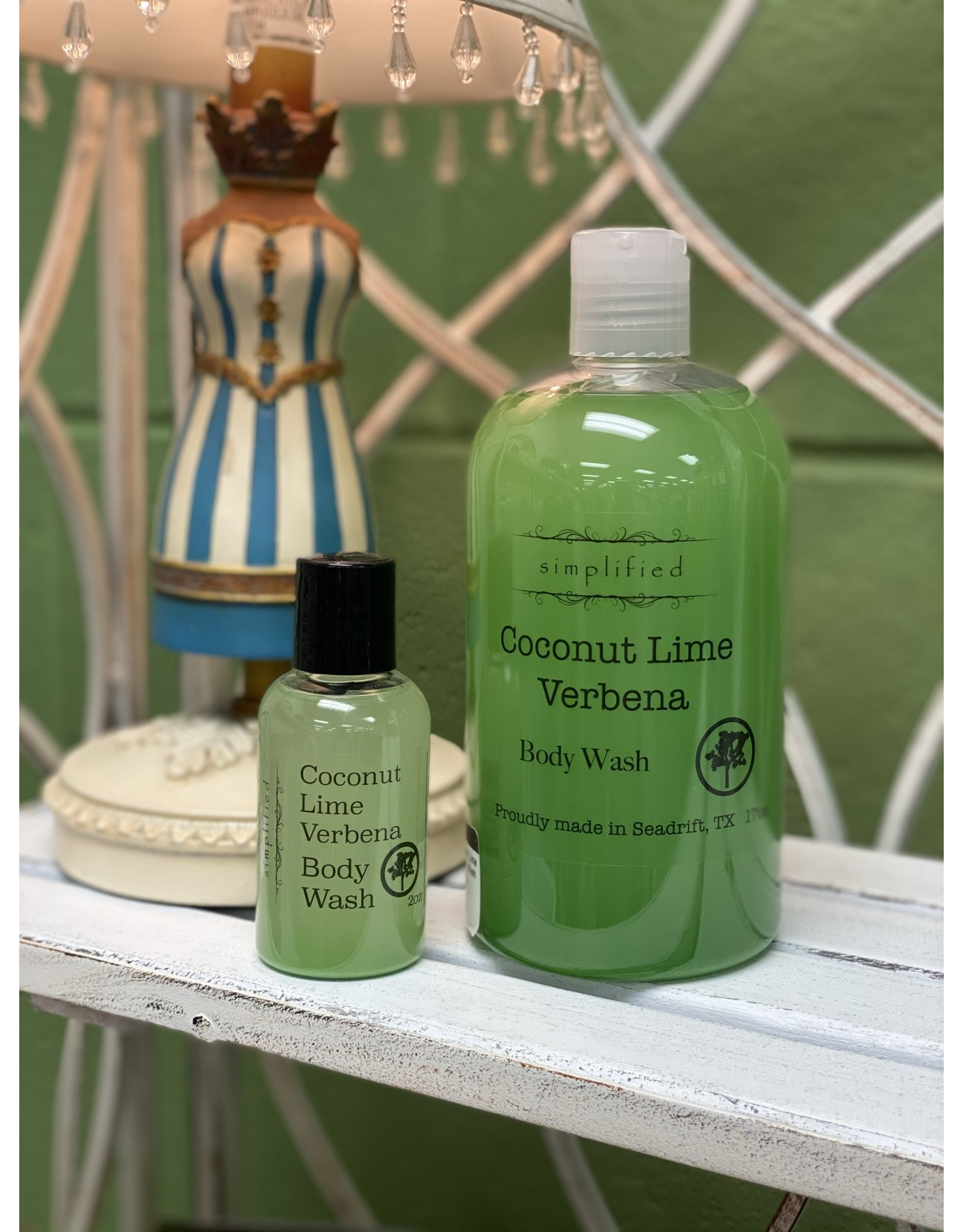 Coconut Lime Verbena Body Wash 2oz