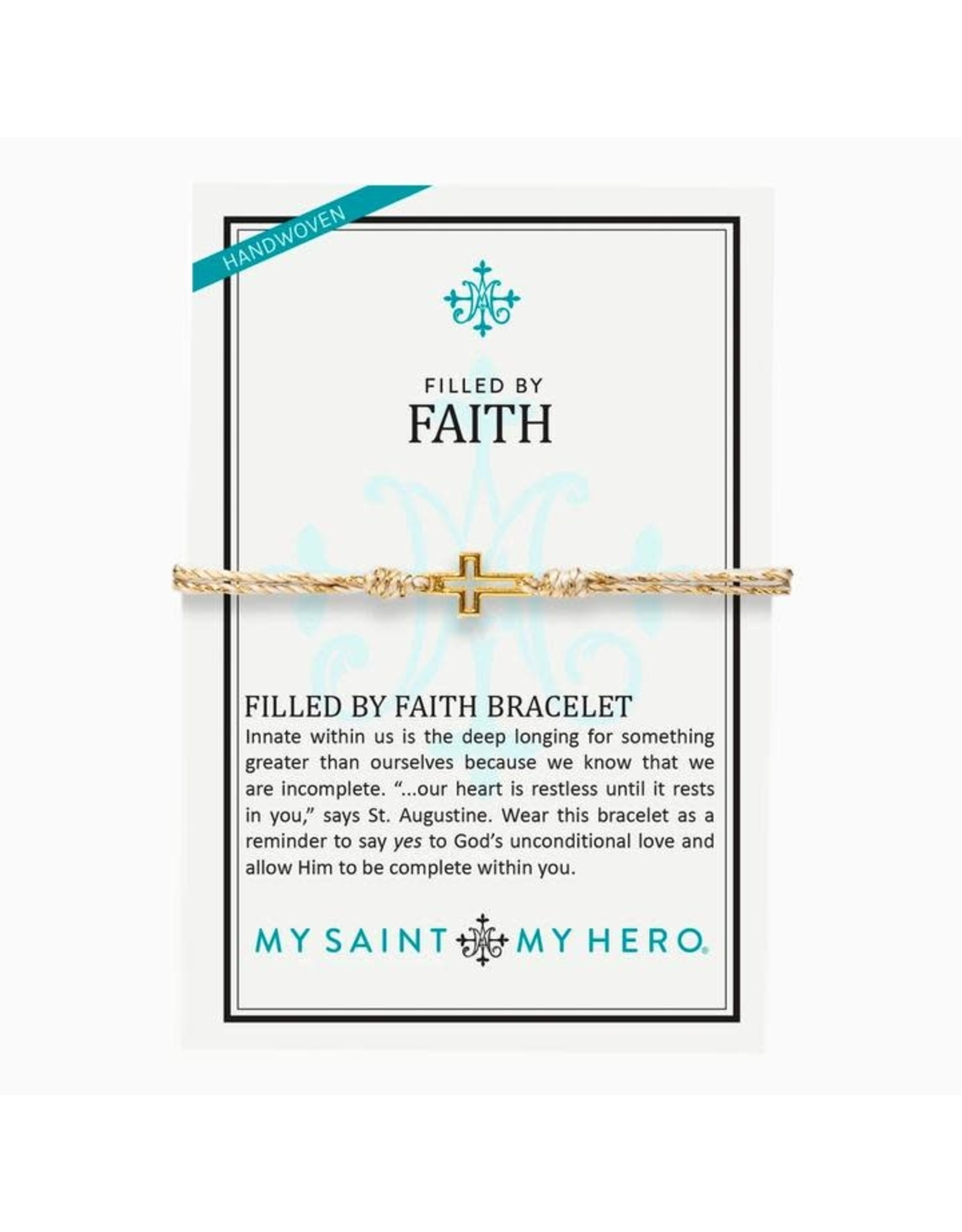 MSMH Filled By Faith Open Cross Bracelet Gold/Metallic Gold