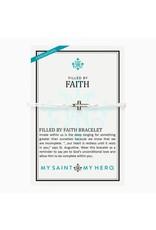 MSMH Filled By Faith Open Cross Bracelet Silver/Metallic Silver