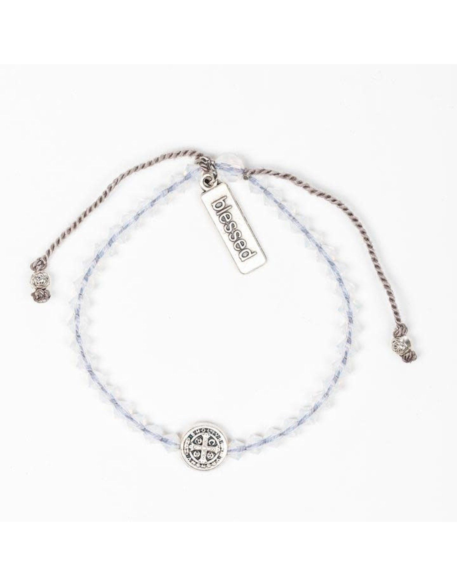 MSMH Birthday Blessing Bracelet- October Silver