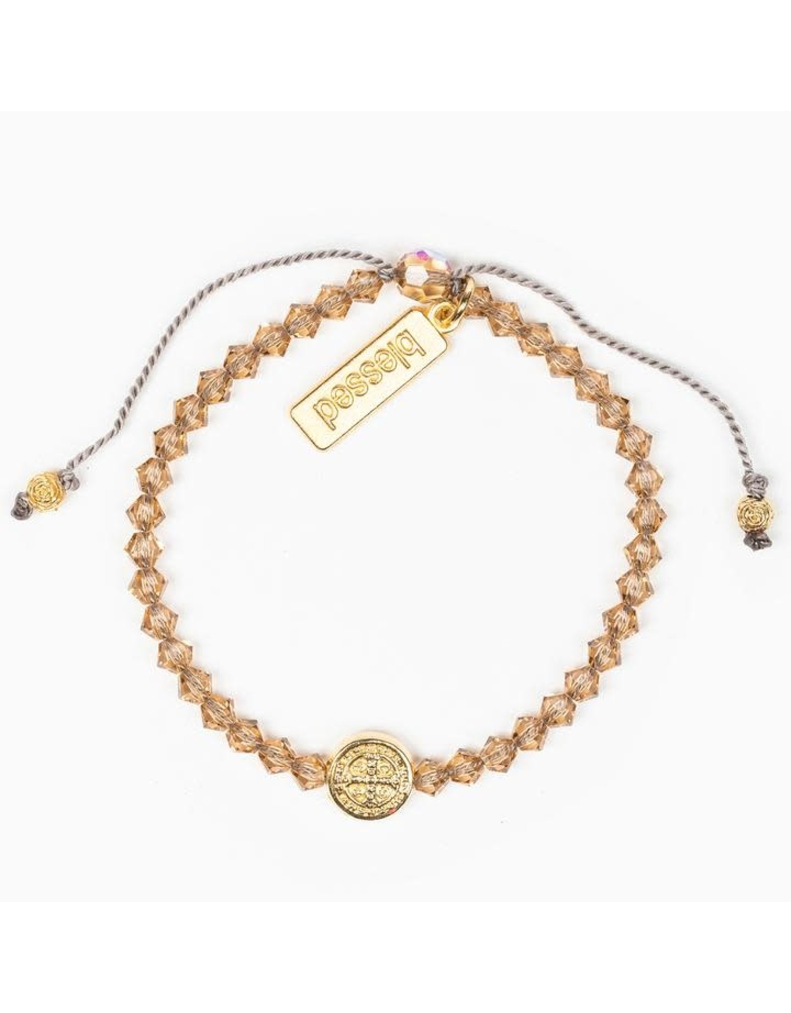 MSMH Birthday Blessing Bracelet- November Gold