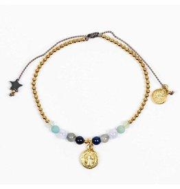 Family Virtues Bracelet Gold/Mix Gemstones