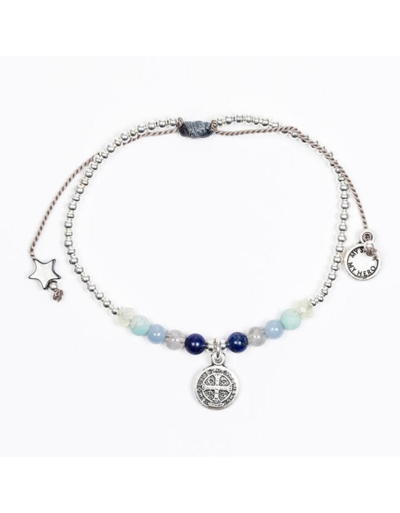 Family Virtues Bracelet Silver/Mix Gemstones