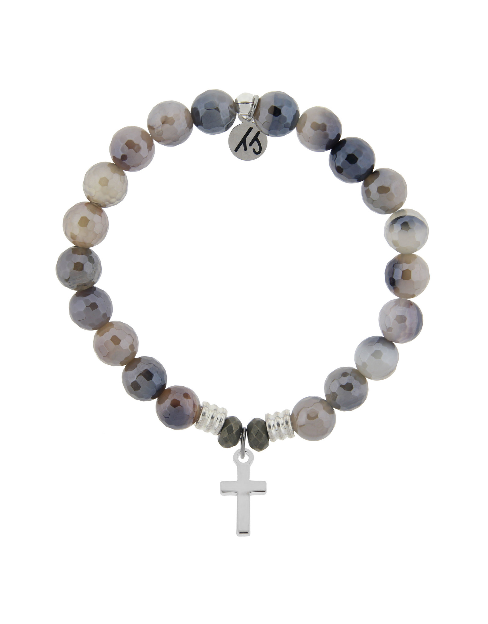 Cross Storm Agate Bracelet