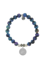 Serenity Prayer Indigo Tigers Eye Bracelet