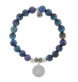 Serenity Prayer Indigo Tigers Eye Bracelet
