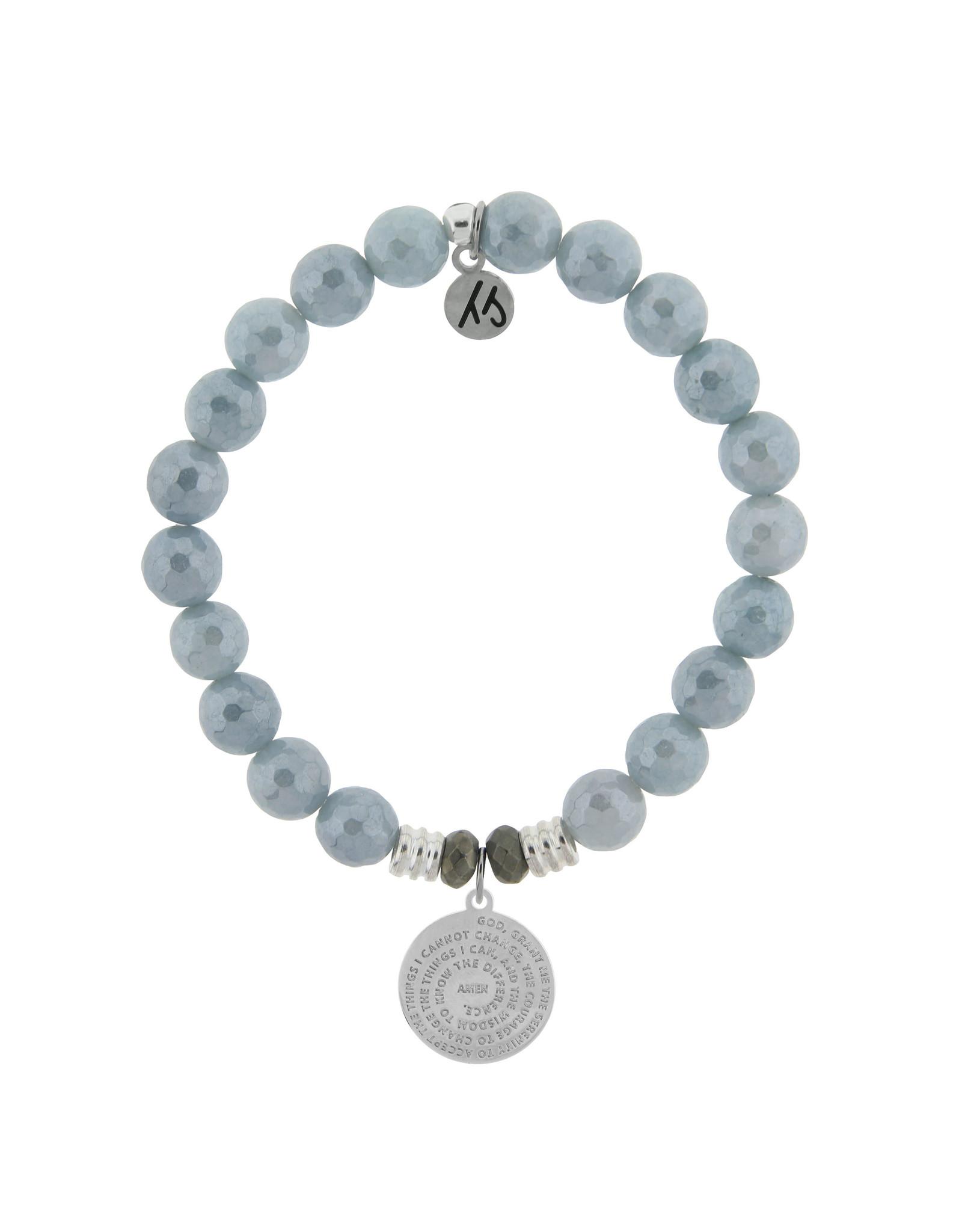 Serenity Prayer Blue Quartzite Bracelet
