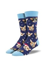 Socks Happy Pawlidays Navy Mens