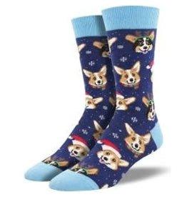 Socks Happy Pawlidays Navy Mens