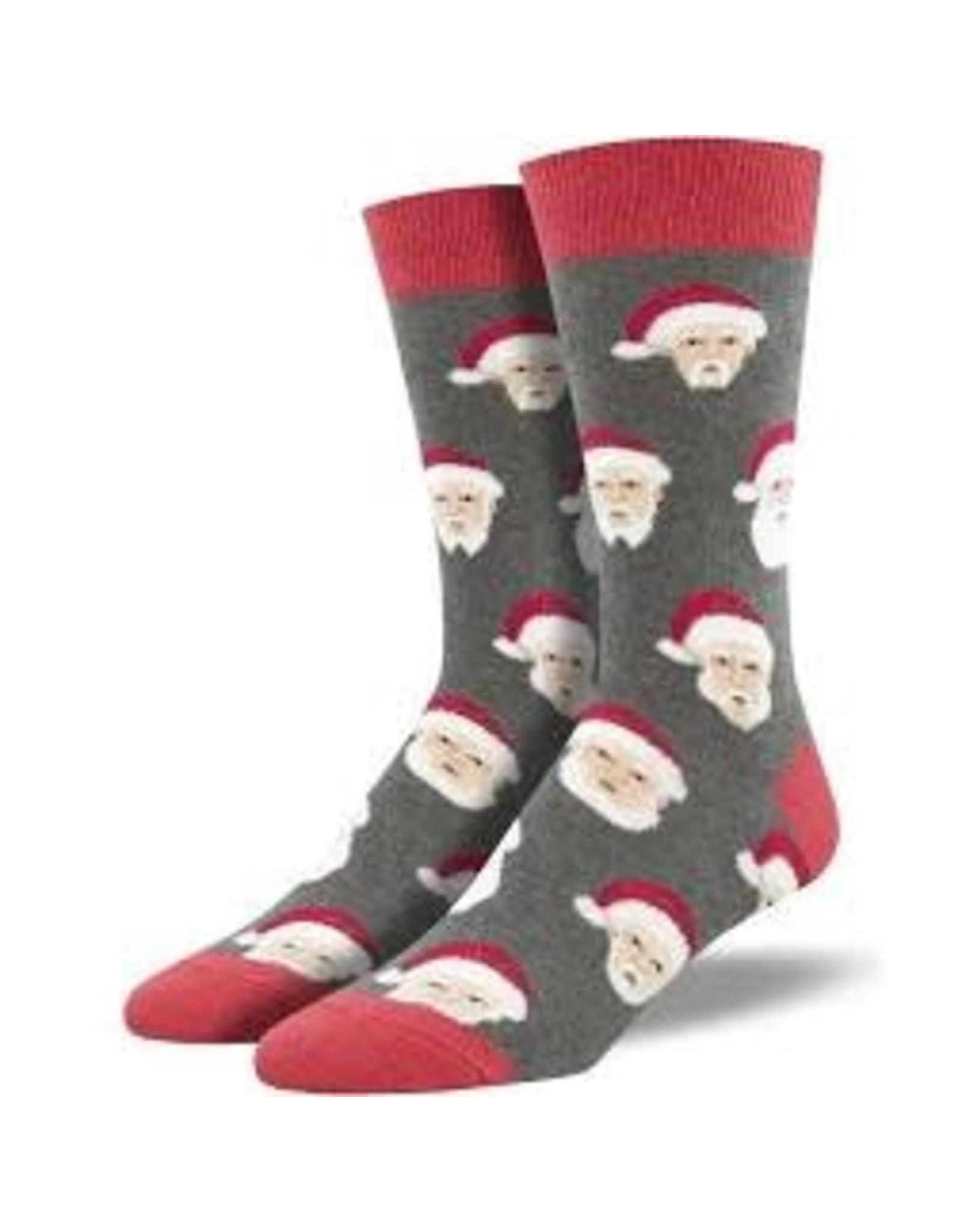 Socks Styling Santa Gray Heather Mens