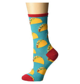 Socks Tacos Teal Womens