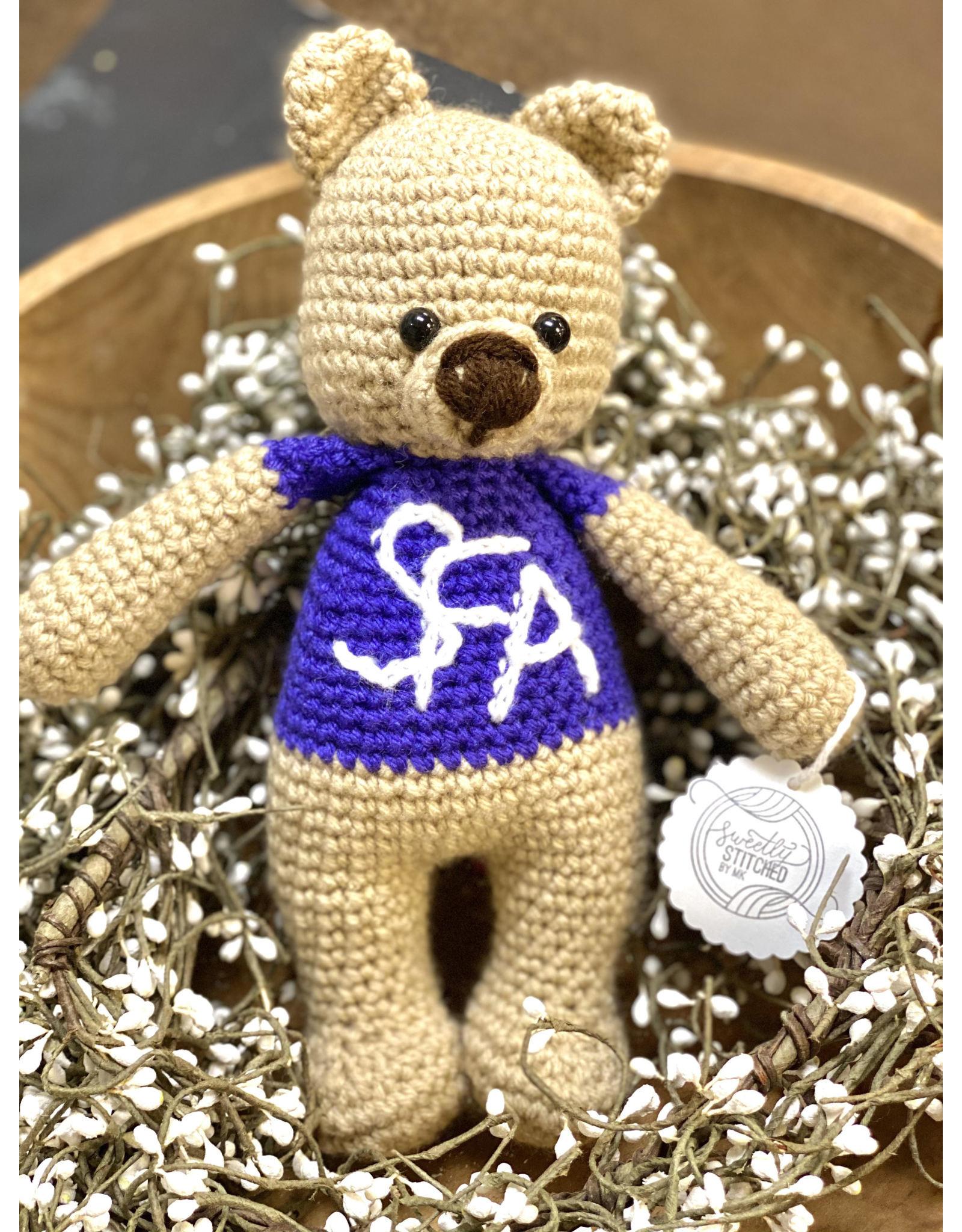 Sweetly Stitched Lumberjack Bear