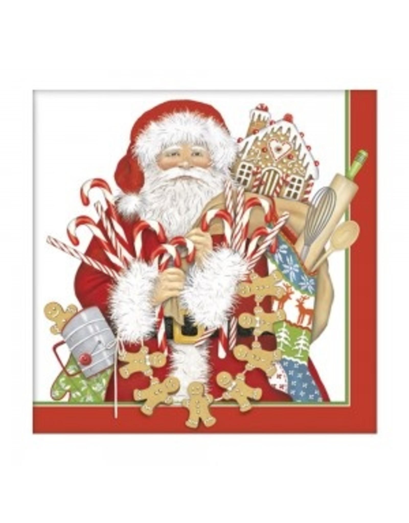 Mary Lake-Thompson Gingerbread Santa Sugar Cookie Mix/Towel