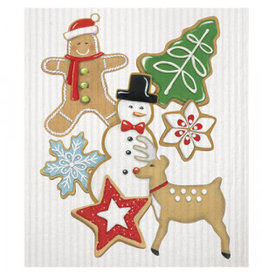 Mary Lake-Thompson Holiday Kitchen Sponge Cloth - Christmas Cookies