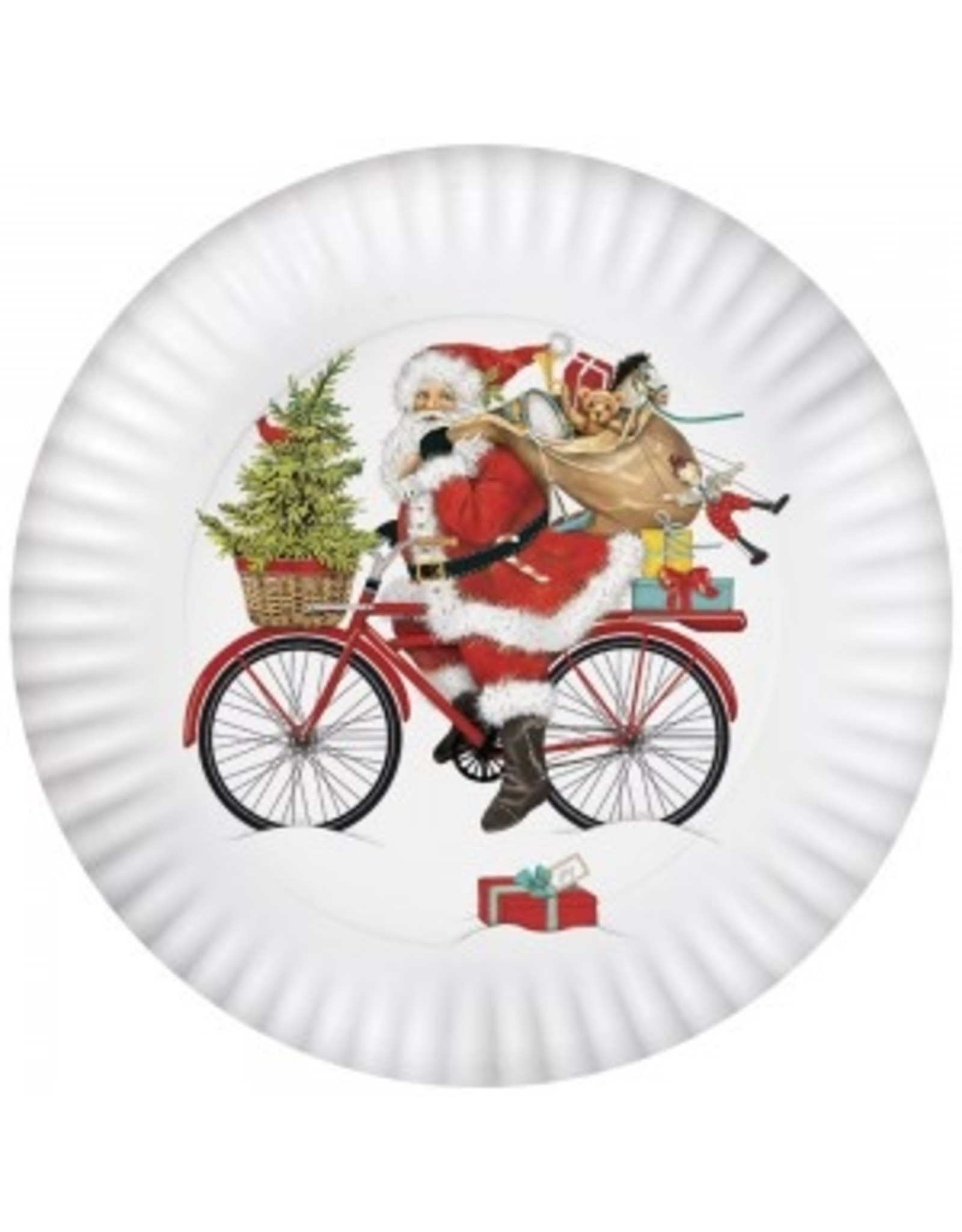 Mary Lake-Thompson Santa Red Bike Platter