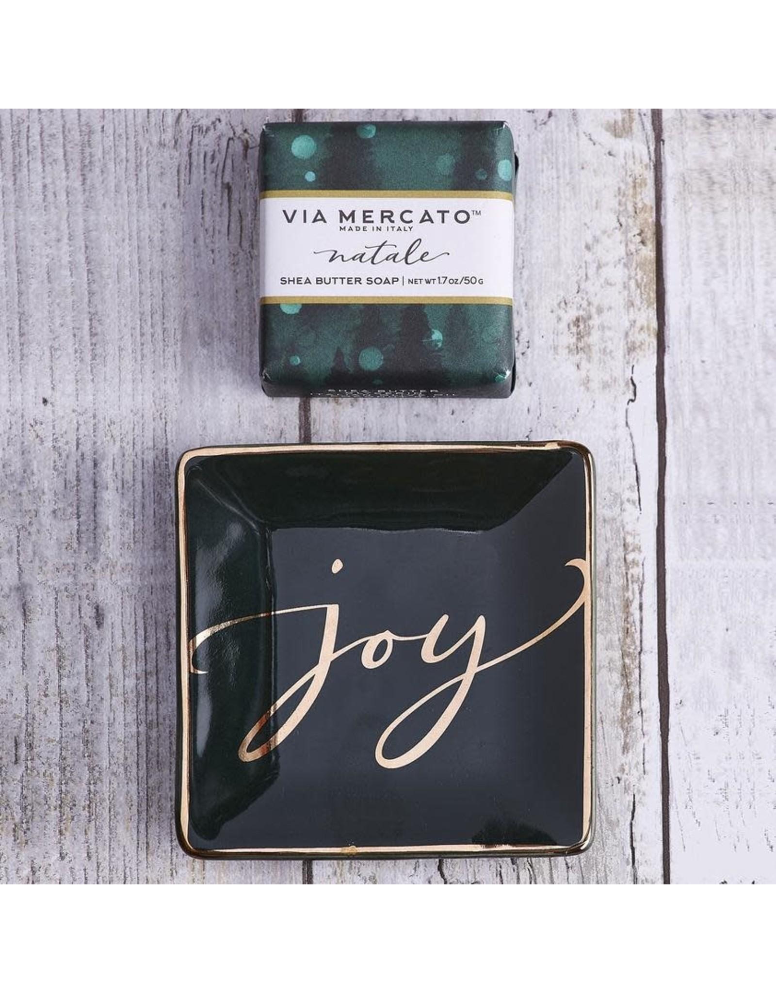 Euro Holiday Soap Trinket Tray Joy