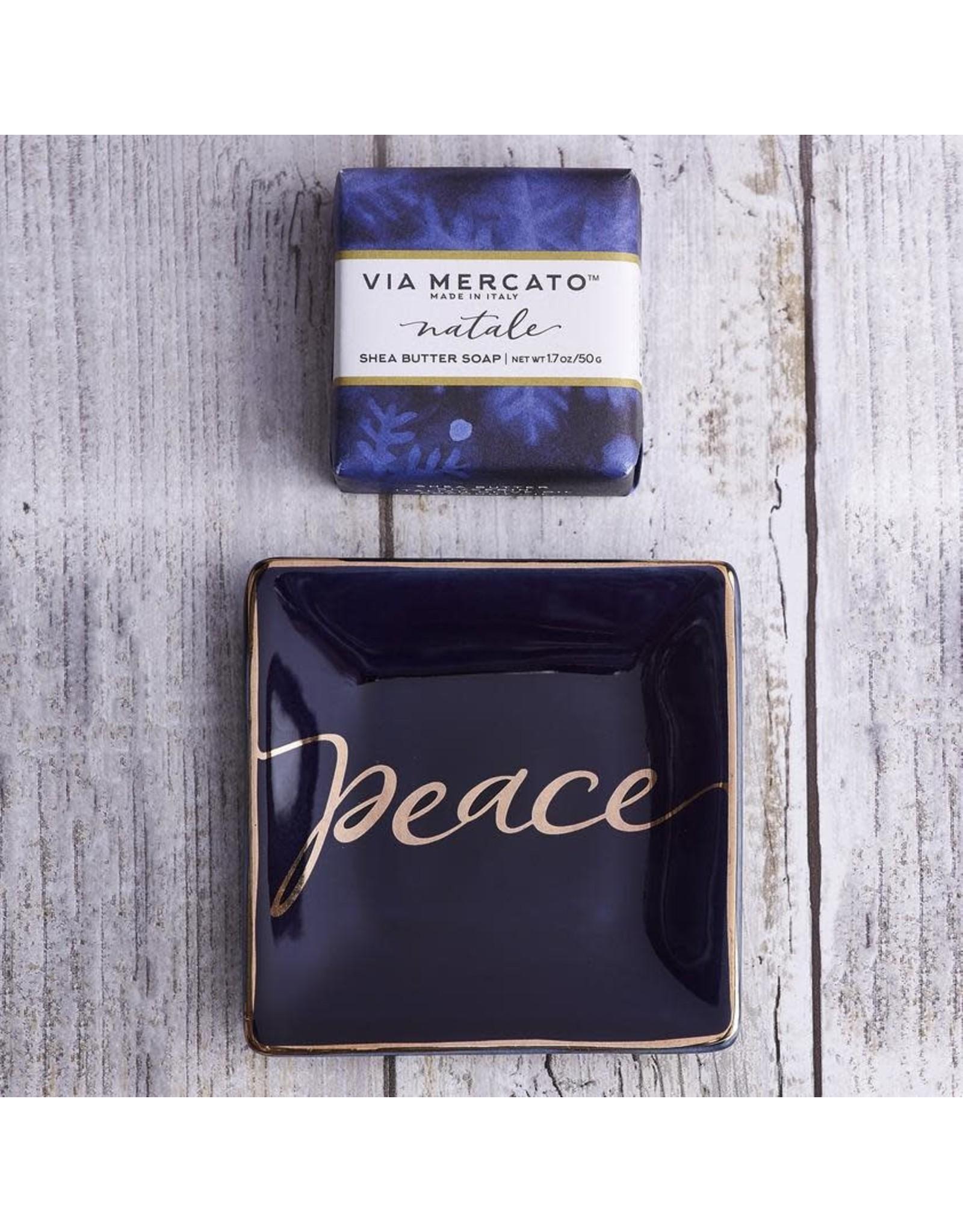 Euro Holiday Soap Trinket Tray Peace