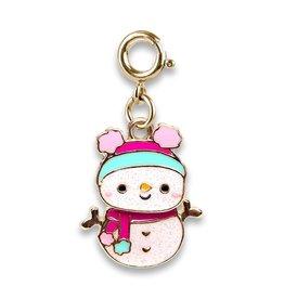 Charm-It Gold Swivel Snowman