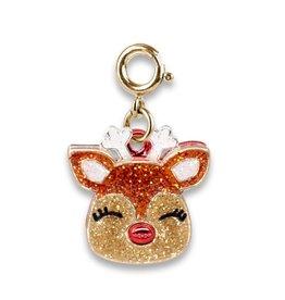 Charm-It Gold Glitter Reindeer