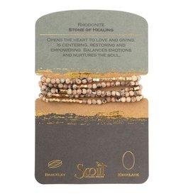 Scout- Rhodonite Bracelet
