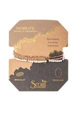 Scout- Howlite Delicate Bracelet