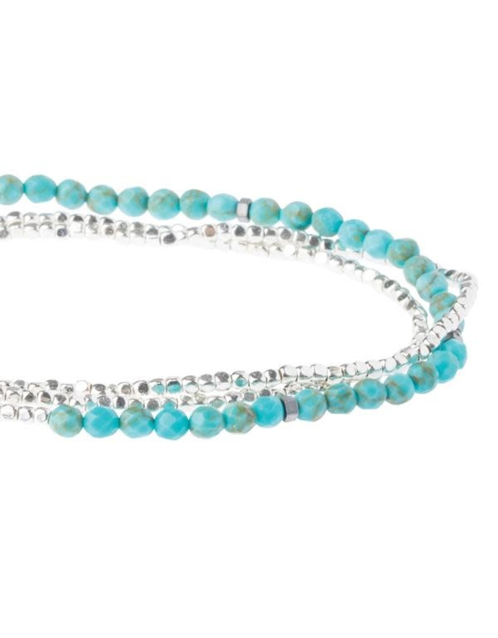 Scout- Turquoise/Silver Delicate Bracelet