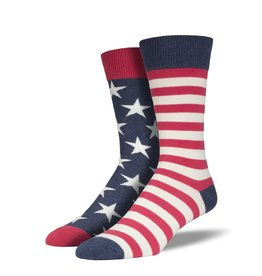 Socks Flag Vintage Blue Mens