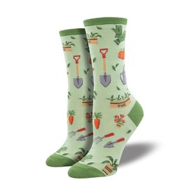 Socks Hoe Down Green Womens