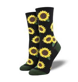 Socks More Blooming Socks Black Womens