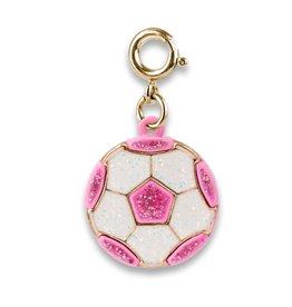 Charm-It Gold Glitter Pink Soccer Ball