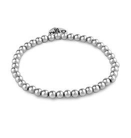 Charm-It Silver Beaded Bracelet