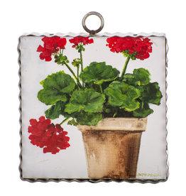 Mini Gallery Pot of Geraniums Charm