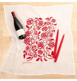 Kei & Molly Flour Sack Dish Towel - Red Roses