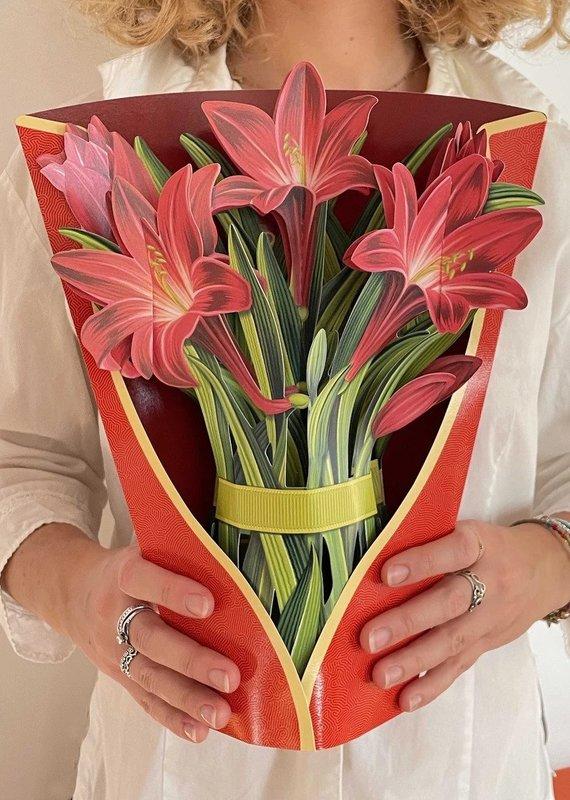 Freshcut Paper Flower Red Amaryllis
