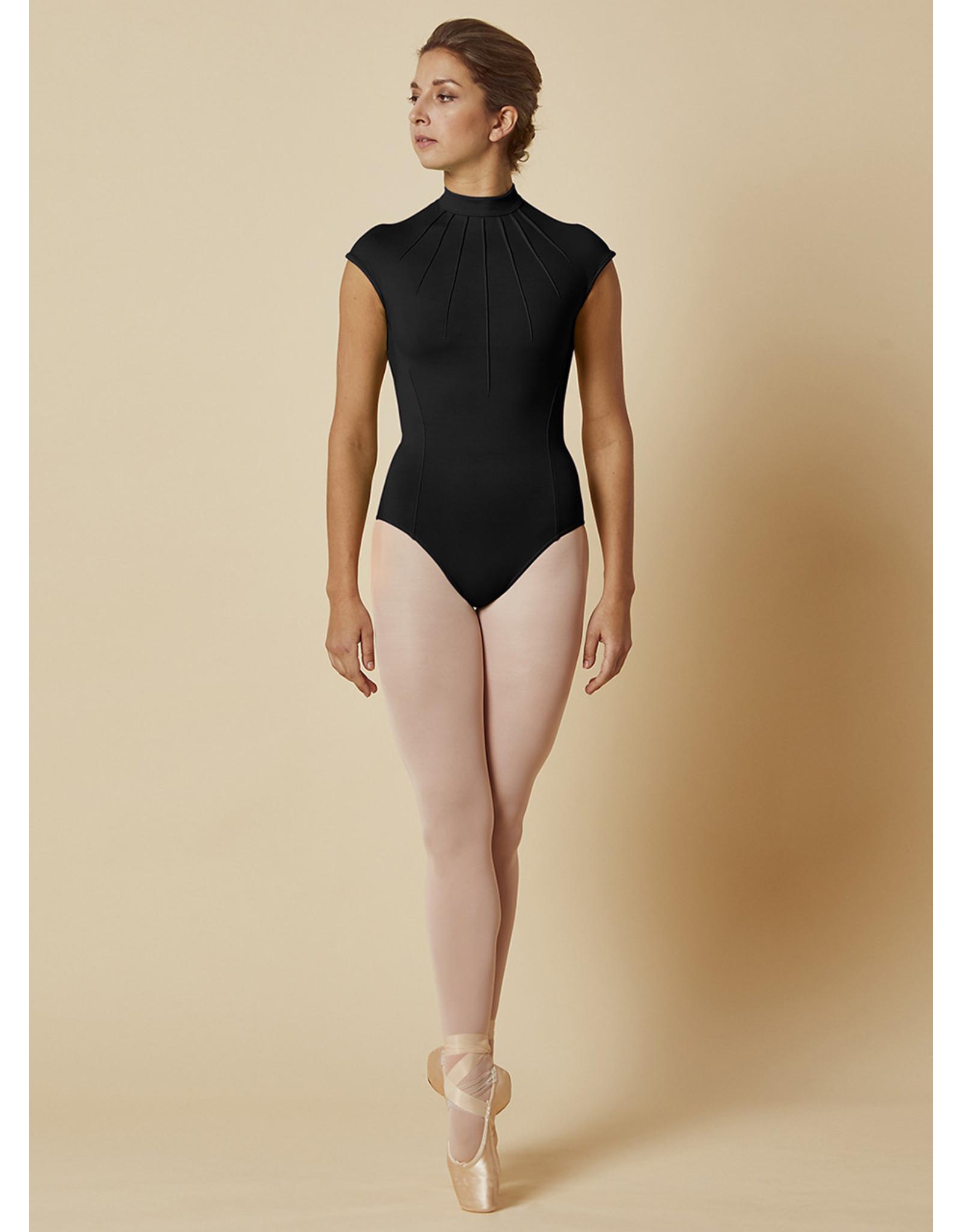 Mirella Mirella Fashion Pleated Lace Cap Sleeve