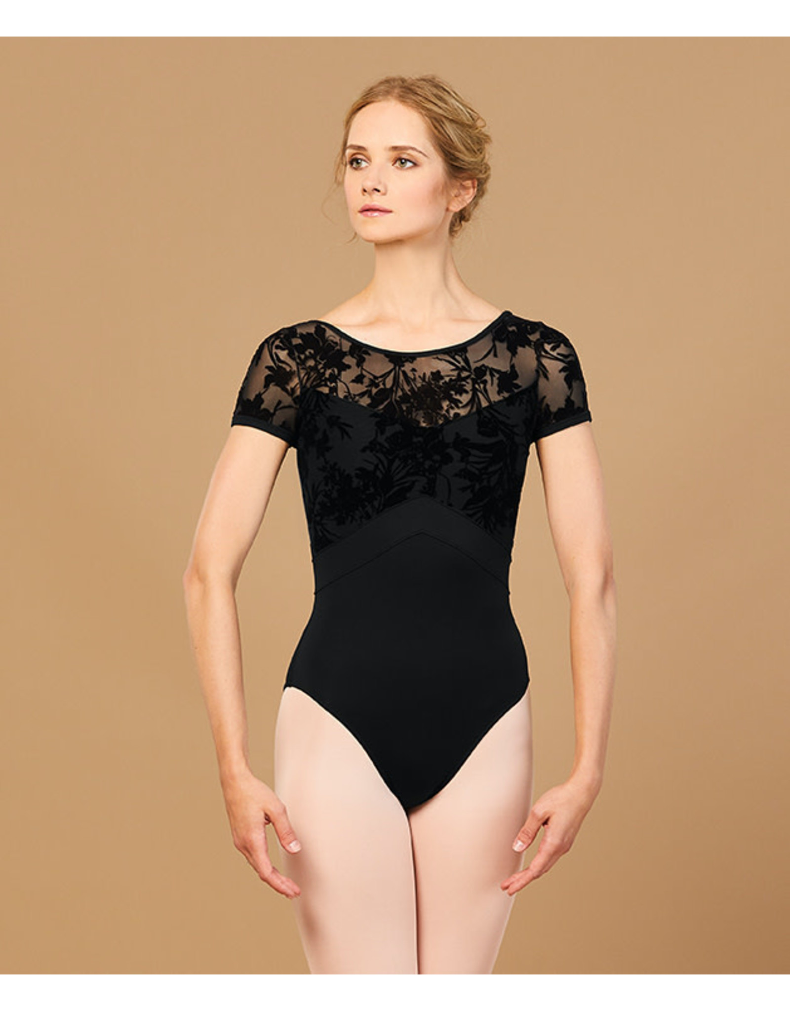 Bloch Bloch - Floral Mesh Scoop Back