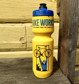 Bike Works Bike Works Water Bottle 16oz, Yellow