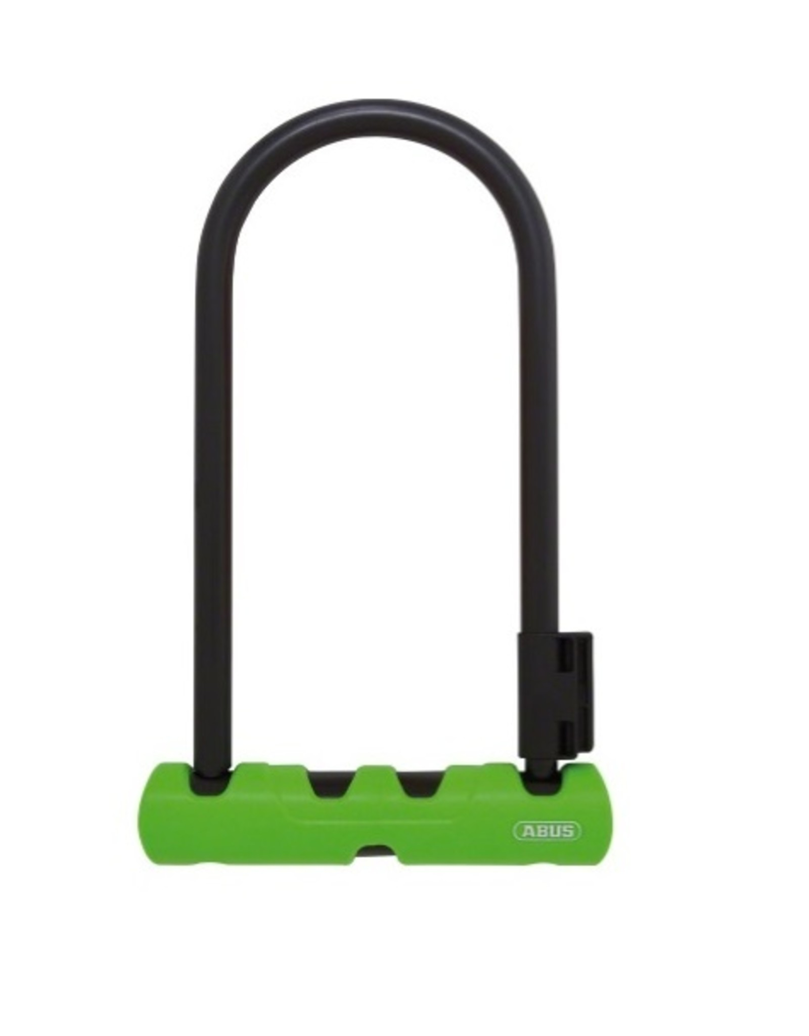 "Abus Abus Ultra 410 U-Lock - 3.9 x 9"", Keyed, Black/Green, Includes bracket"