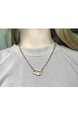GEMELLI CANDY PAVE LOCK NECKLACE