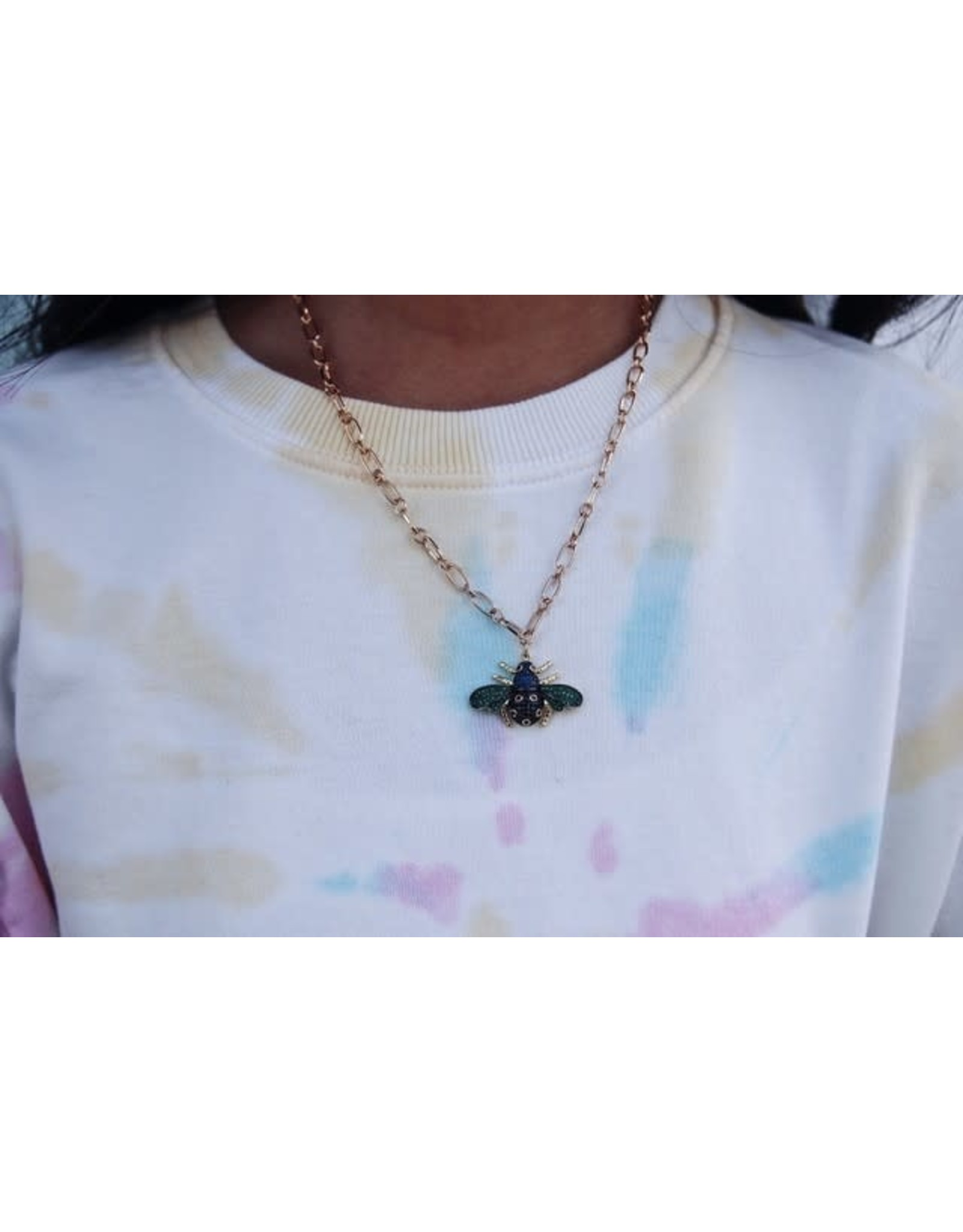 GEMELLI AIRINI PAVE BEE NECKLACE