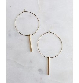 KINSEY DESIGNS HAZLEY WIRE HOOP WITH BAR EARRING