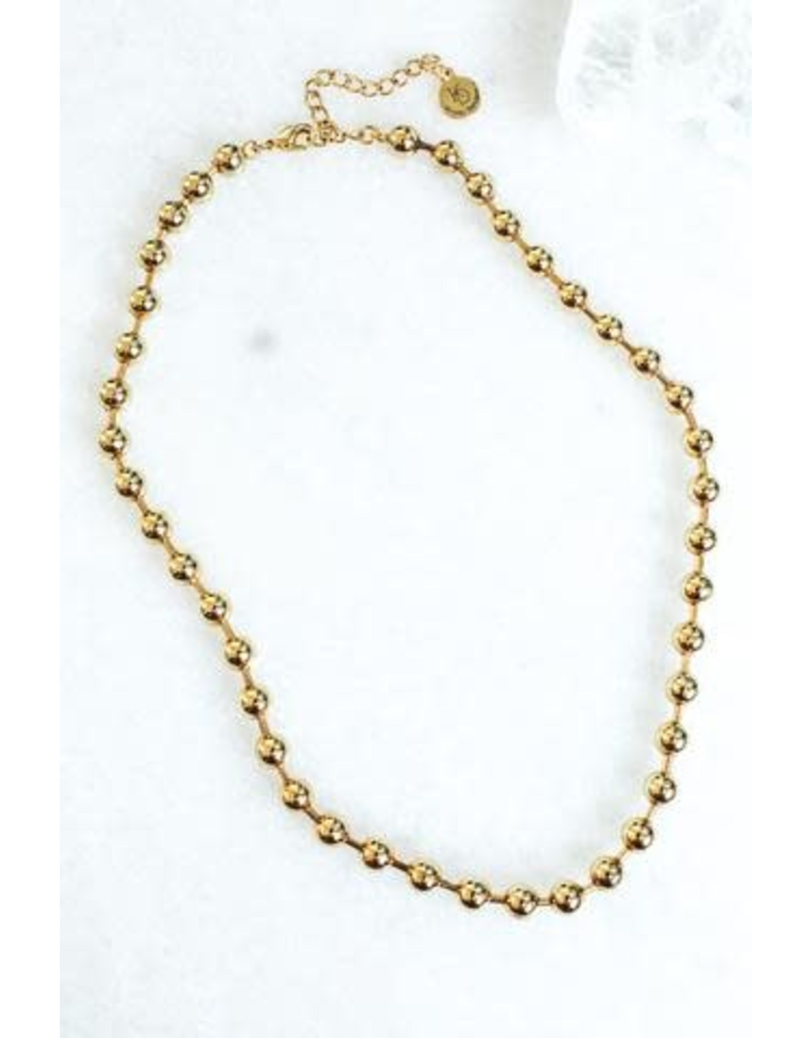 KINSEY DESIGNS REVEL GOLD BALL NECKLACE