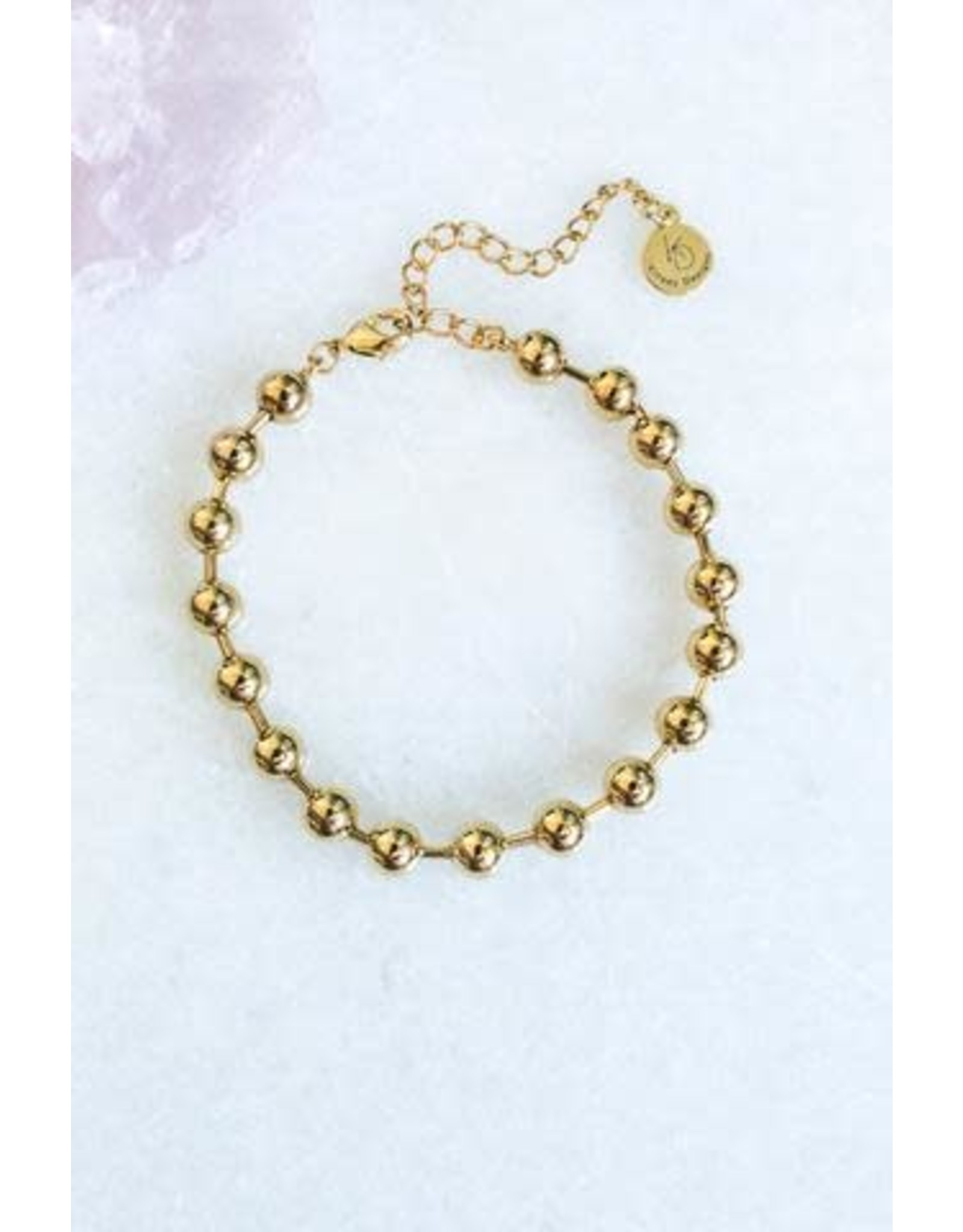"KINSEY DESIGNS REVEL GOLD BALL 6"" BRACELET"